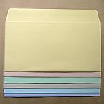洋0(洋長3)封筒/透けないパステルカラー100